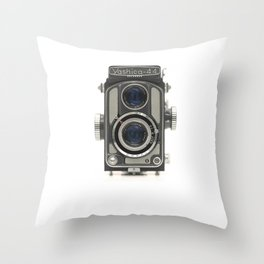 Vintage Camera (Yashica 44) Throw Pillow