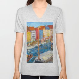 New Harbor, Copenhagen Unisex V-Neck