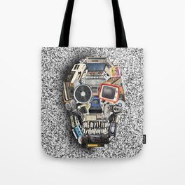 retro tech skull 5 Tote Bag