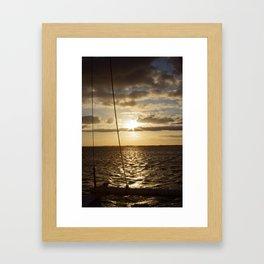Sunset in NC Framed Art Print