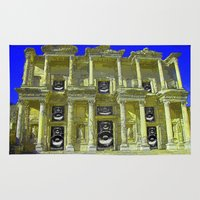 old school Area & Throw Rugs featuring Old School by Nicholas Bremner - Autotelic Art