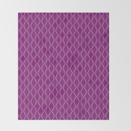 Winter 2018 Color: Orchid Blood on Diamonds Throw Blanket