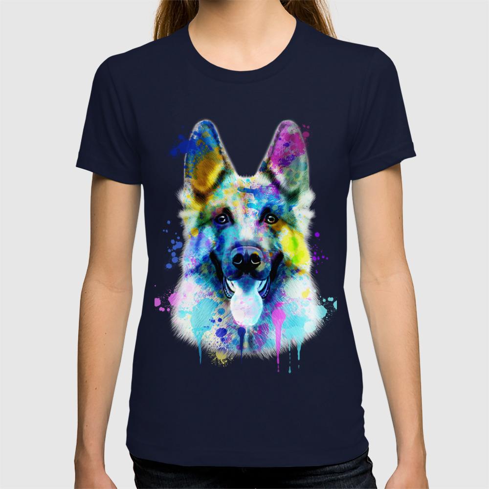 29b63db88 German Shepherd Watercolor, Watercolor Dog print, German Shepherd Print,  German Shepherd Art T-shirt by romandigitalart | Society6