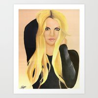 britney spears Art Prints featuring BRITNEY SPEARS  .- BRITNEY JEAN  by Alfonso Aranda