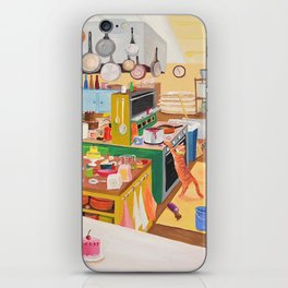 A Cat in the Kitchen iPhone Skin