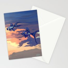 Sky Fishes Stationery Cards