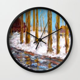 Spring Melt Wall Clock