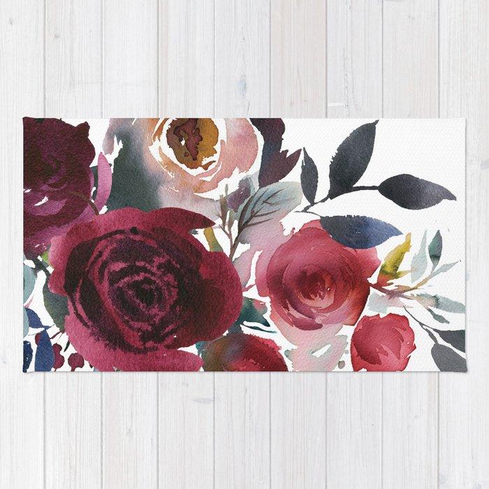 Rojo Floral Rug