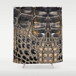 American alligator Leather Print Shower Curtain