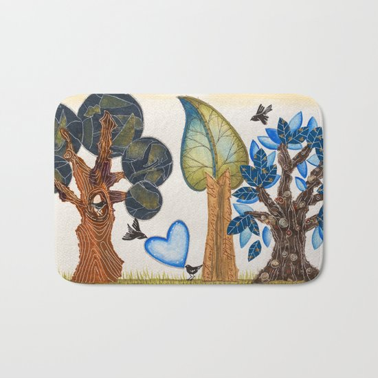 Birds in love Bath Mat