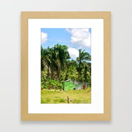 Island Home Framed Art Print