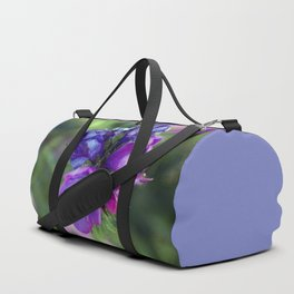 Viper's bugloss blue and pink flowers 1 Duffle Bag