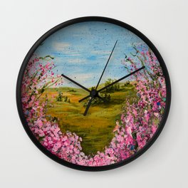Heart of April Wall Clock
