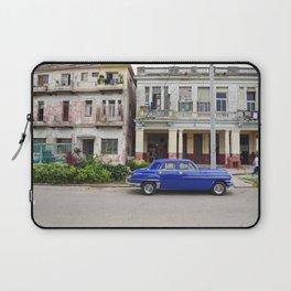 Havana Cuba Cuban Vintage Car Architecture Vedado Urban Street Photography Laptop Sleeve