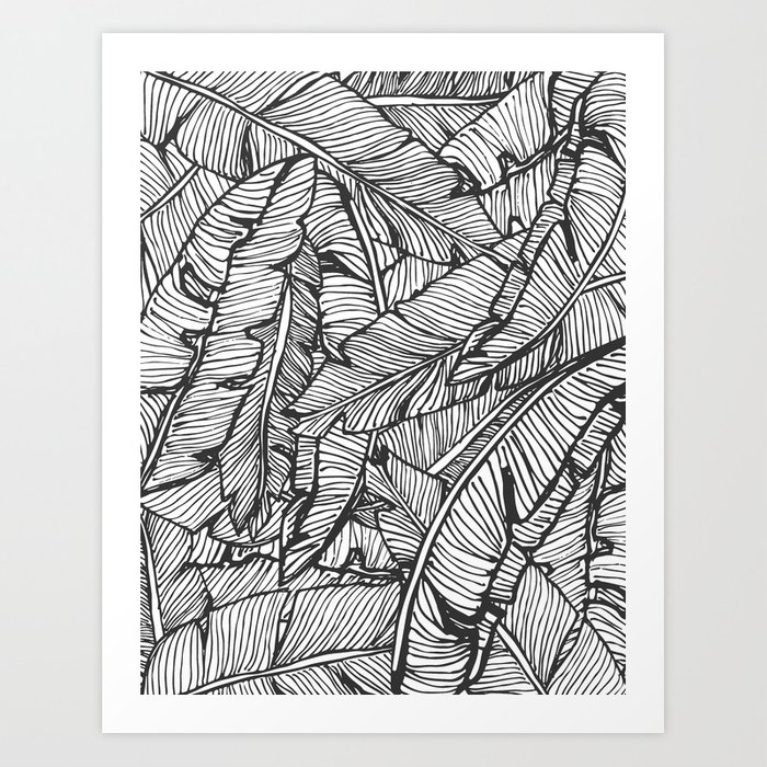 Black white jungle society6 decor buyart art print