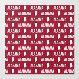 Alabama bama crimson tide pattern football varsity alumni Canvas Print