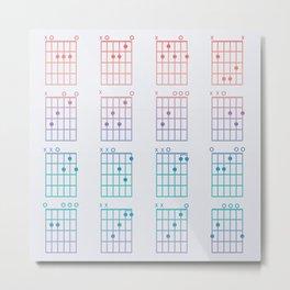 Guitar Chords Metal Print
