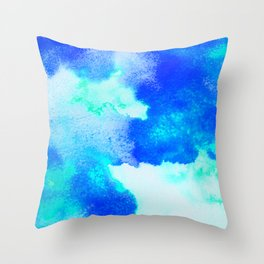 Blue Java Throw Pillow