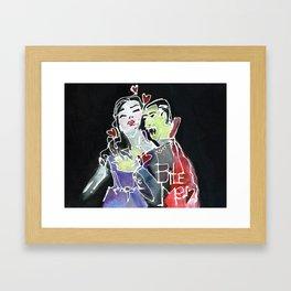 Bite Me Framed Art Print