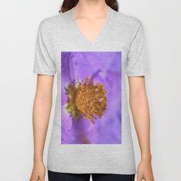Jara blanca flower. Cistus albidus Unisex V-Neck