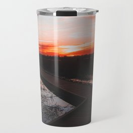 Sunset boardwalk Travel Mug