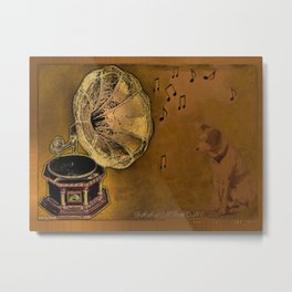 His Master's voice Metal Print