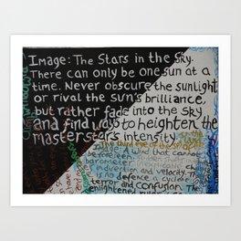 A THOUSAND WORDS Art Print