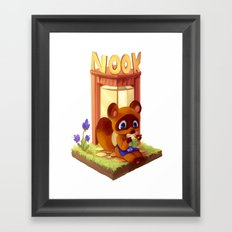 Nookling on break Framed Art Print