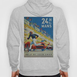 24hs Le Mans, 1959, vintage poster Hoody