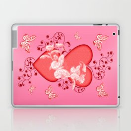 Butterflies and Hearts Laptop & iPad Skin