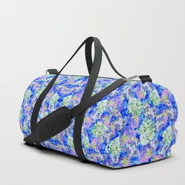 Billowing Blush in Blue Duffle Bag