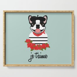 Je t'aime Frenchie Serving Tray