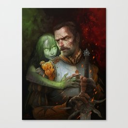 Condemned By Fire Canvas Print