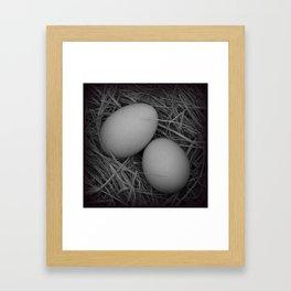 B&W Eggs Framed Art Print