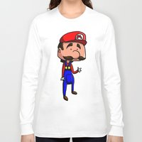 mario bros Long Sleeve T-shirts featuring Mario - Super Mario Bros by Dorian Vincenot