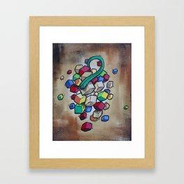 Cubist Grapes Framed Art Print