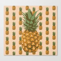 pineapples Canvas Prints featuring Pineapples by Brocoli ArtPrint