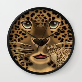 Leopard Spots Wall Clock