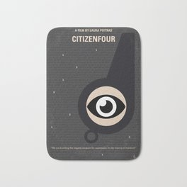 No598 My Citizenfour minimal movie poster Bath Mat