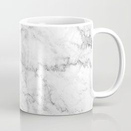 Gray & White Faux Marbles Texture Coffee Mug