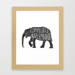 Completely Irrelephant Framed Art Print