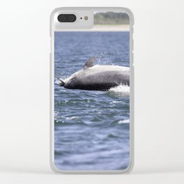 Bottlenose dolphin Clear iPhone Case