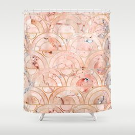 Peachy Marble (foor) Shower Curtain