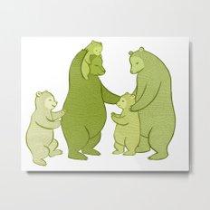 Bear family of Five Metal Print