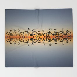 Bikes Throw Blanket