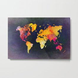 World map 8 Metal Print