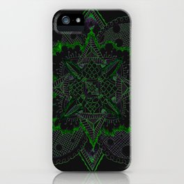 Divine Intention 5: Solar Green iPhone Case