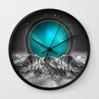 lunar Wall Clocks featuring Fade Away (Lunar Eclipse) by soaring anchor designs
