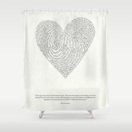 Coded heartprint Shower Curtain