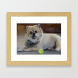 Guarding the ball Framed Art Print